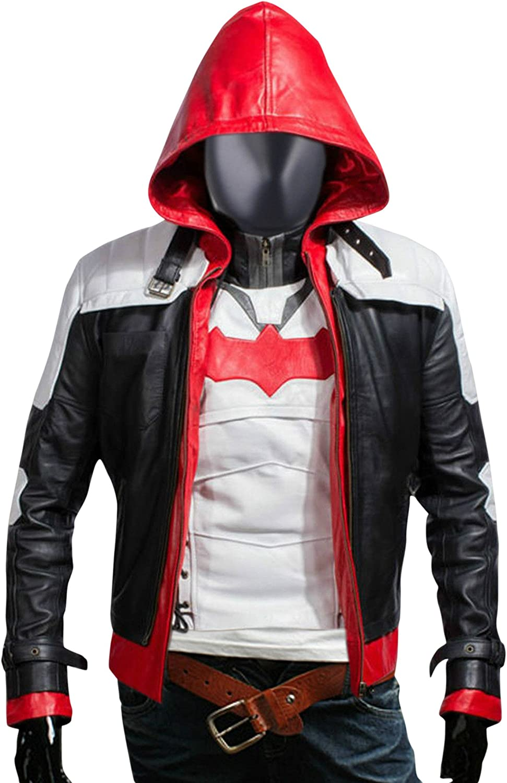 Flesh & Hide F&H Kid's Superhero Knight Genuine Leather Hooded Jacket & Vest