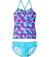 Nike Kids - Graphic Crossback Tankini (Big Kids)