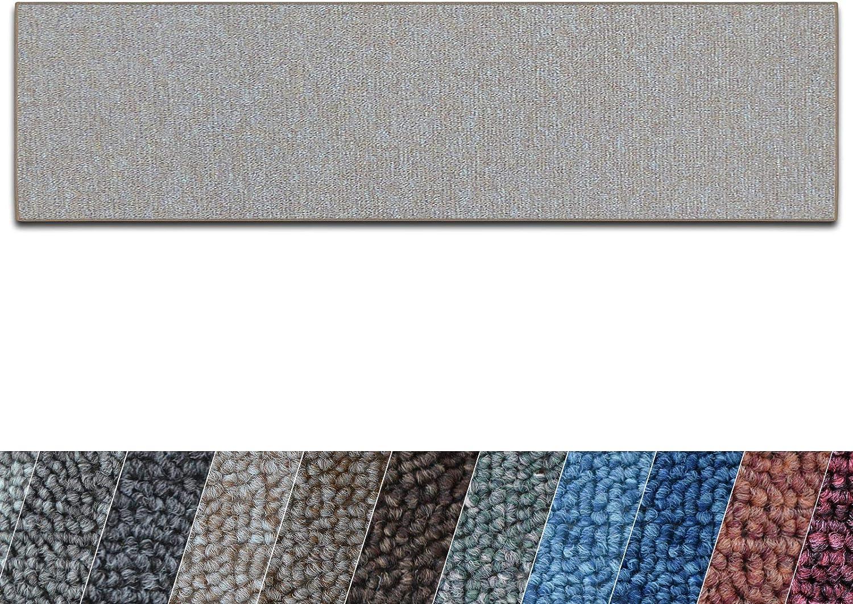 Casa pura Teppich Lufer London  Meterware  Teppichlufer für Wohnzimmer, Flur, Küche usw.  Flacher Schlingenflor  mit Stufenmatten kombinierbar (Beige - 100x600 cm)
