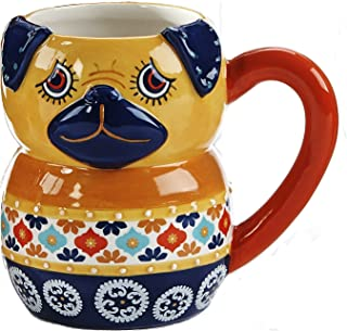 BOHO Fun Ceramic Animal Mug (Yellow Dog)