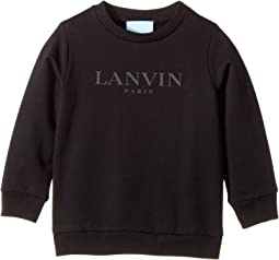 Lanvin Kids - Long Sleeve Logo Sweat Top (Toddler/Little Kids)