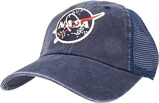 AmericanNeedleRaglan Bones Mesh Dad Hat, NASA, Navy (41150A-NASA)