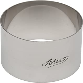 Ateco 4901 Round Stainless Steel Form, 3 by 1.75-Inches High