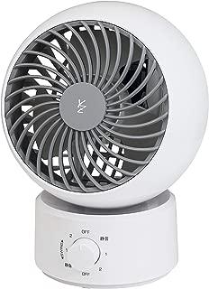 【Amazon.co.jp 限定】 [山善] 扇風機 サーキュレーター 静音 左右 首振り 上下角度調節 風量3段階調節 15cm ホワイト×グレー AAS-KW15(WH) [メーカー保証1年]