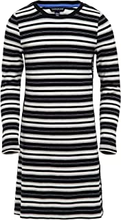Calvin Klein Girls' Long Sleeve Solid Logo Dress
