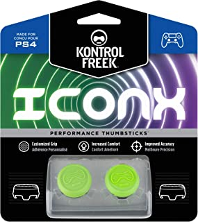 KontrolFreek Icon X CQC Signature Edition for PlayStation 4 (PS4) Controller | Performance Thumbsticks | 2 Low-Rise Convex | Green