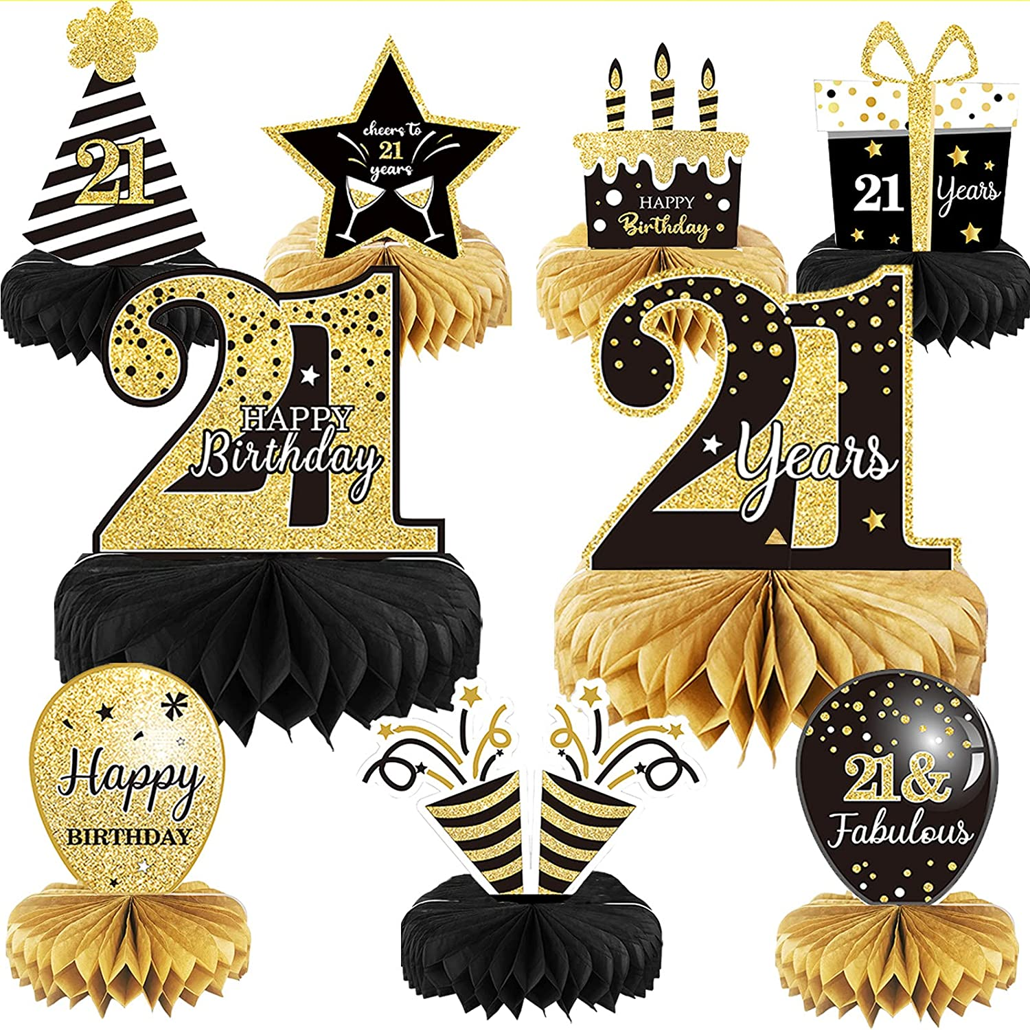 9 Pieces 21st Animer and price revision Birthday Centerpieces Decoration Virginia Beach Mall for