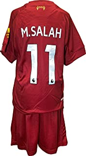 Chivalion Mohamed Salah Liverpool Soccer Jersey and Shorts - Home 2019-20 for Kids