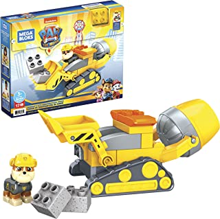 Mega Bloks PAW Patrol Rubble'S City Construction Truck with Mini Building Blocks, Building Toys for Kids 3 Years & Older (...