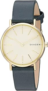 Skagen Women's Quartz Watch analog Display and Leather Strap, SKW2727