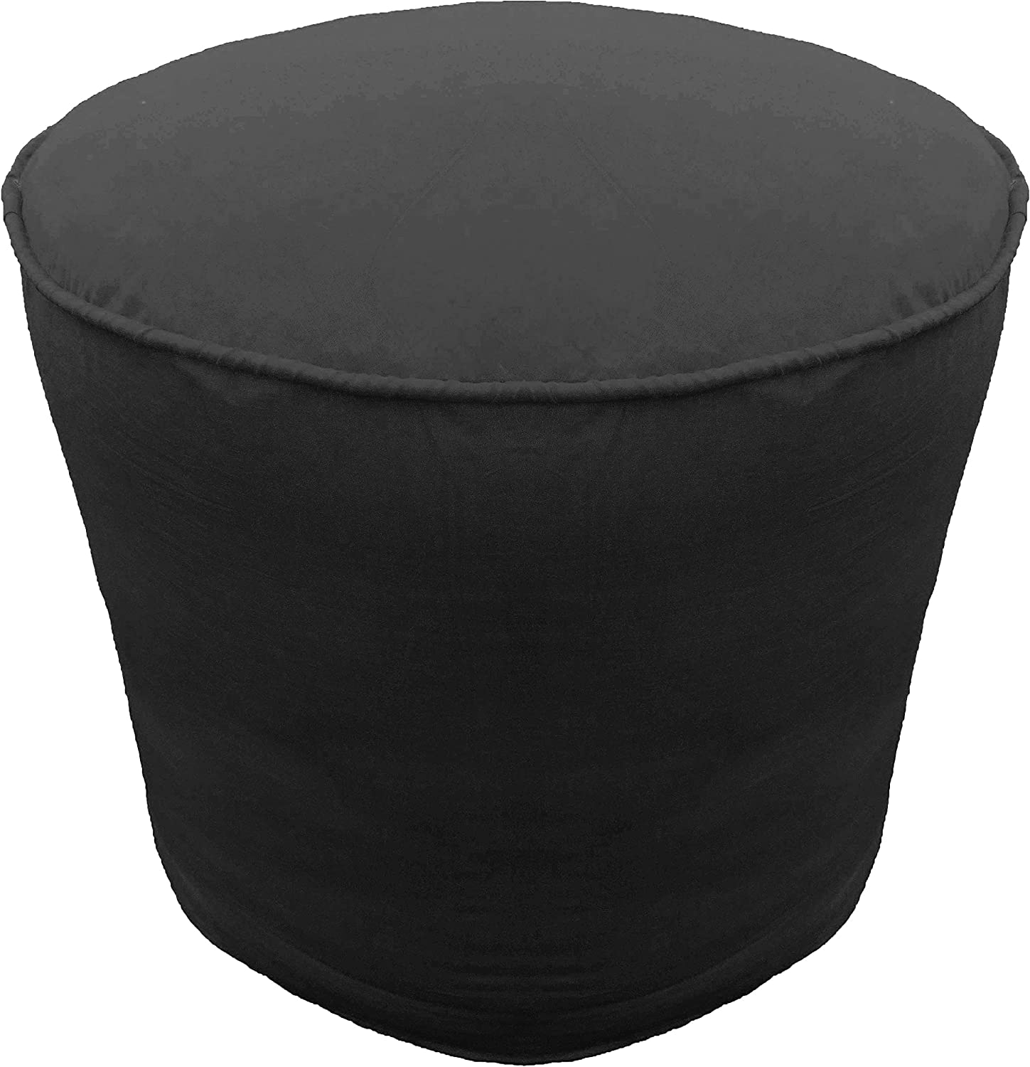 Ottoman Footstool Super popular specialty store Cover Cotton Round Max 87% OFF Blac Piping Pouf with