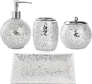 Amazon Com Silver Bathroom Accessory Sets Bathroom Accessories
