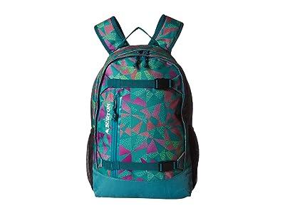 Burton Kids Youth Day Hiker [20L] (Green/Blue Slate Morse Geo Print) Backpack Bags