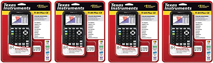 $525 » Texas Instruments TI-84 Plus CE Graphing Calculator, Black, Pack 4