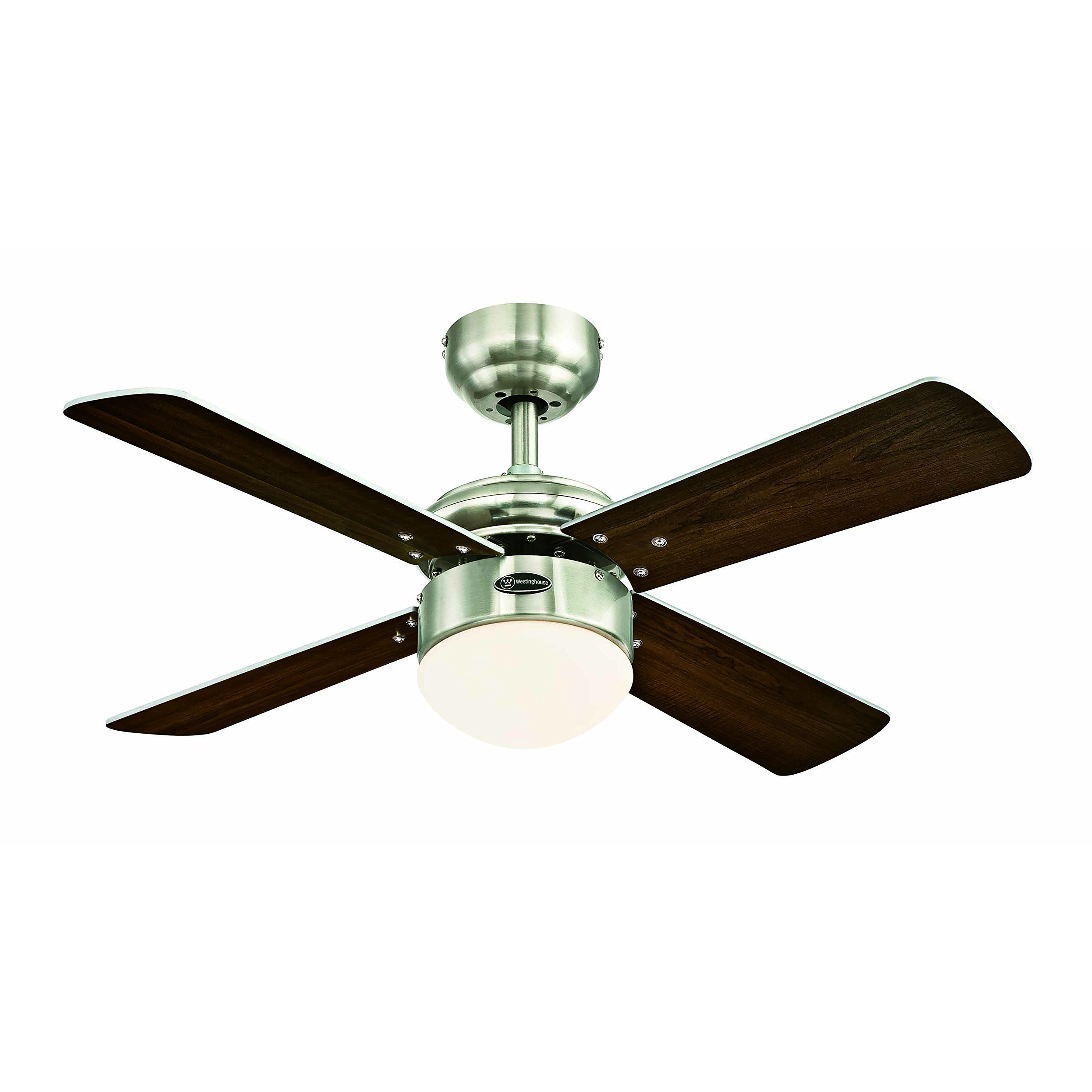 Dimmable LED Light Kit with Opal Frosted Glass Colosseum 90 cm Brushed Nickel Indoor LED Ceiling Fan