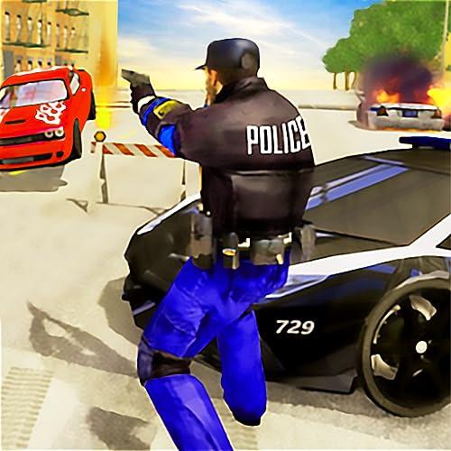 Super Stunt Moto Bike Fahrsimulator der US-Polizei: Ultimative Gangster Chase 3D-Spiele 2020