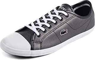 Lacoste - Womens Ziane Sneaker Shoes, Size: 9 B(M) US, Color: Black