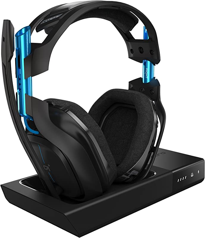 ASTRO Gaming A50 Wireless Dolby Gaming Headset Black Blue PlayStation 4 PC