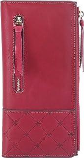 AINIMOER Luxury Large Women's Leather Long Zipper Wallet ladies Clutch Purse