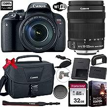 Canon EOS Rebel T7i DSLR Camera with 18-135mm Lens + Photo Essential Bundle (Including: 32GB Memory Card, Canon EOS Shoulder Bag 100ES, Grip Strap, Vlogging/Photo Editing Software Kit)