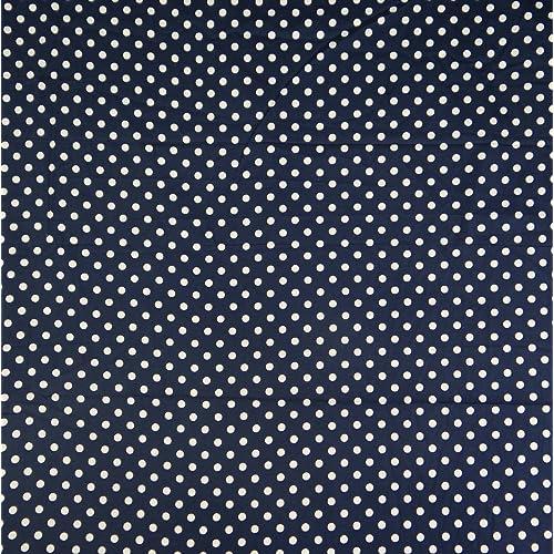 100/% Cotton Fabric Polka Dot Print Dress Making Designer Sewing Material 1 Metre
