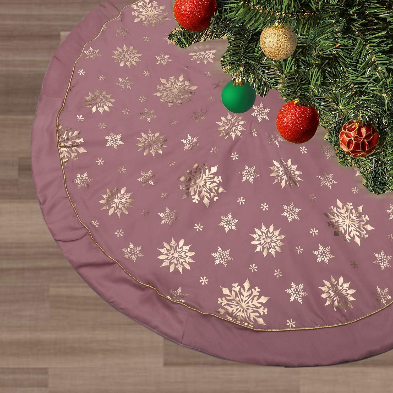 121,9 cm mit Schnee-Muster f/ür Weihnachtsbaum-Dekorationen FLASH WORLD Weihnachtsbaum-Rock blau-3 Lagen gro/ß