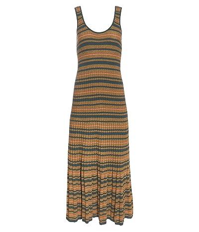 Madewell Sleeveless Striped Sweater Dress (Meadow Green) Women
