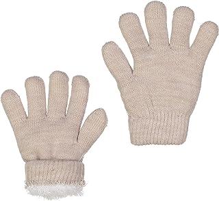 ZEHU Unisex Kids Toddler Magic Stretch Knit Faux Fur Lining Warm Winter Gloves