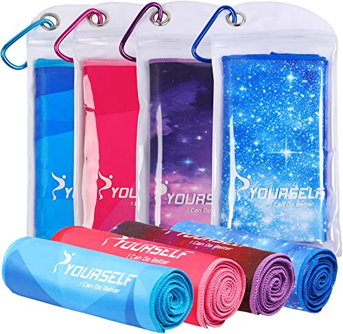 SYOURSELF Cooling Towel for Instant Relief - Cool Bowling Fitness Yoga Towels -100cm x 30cm Use as Cooling Neck Headb...