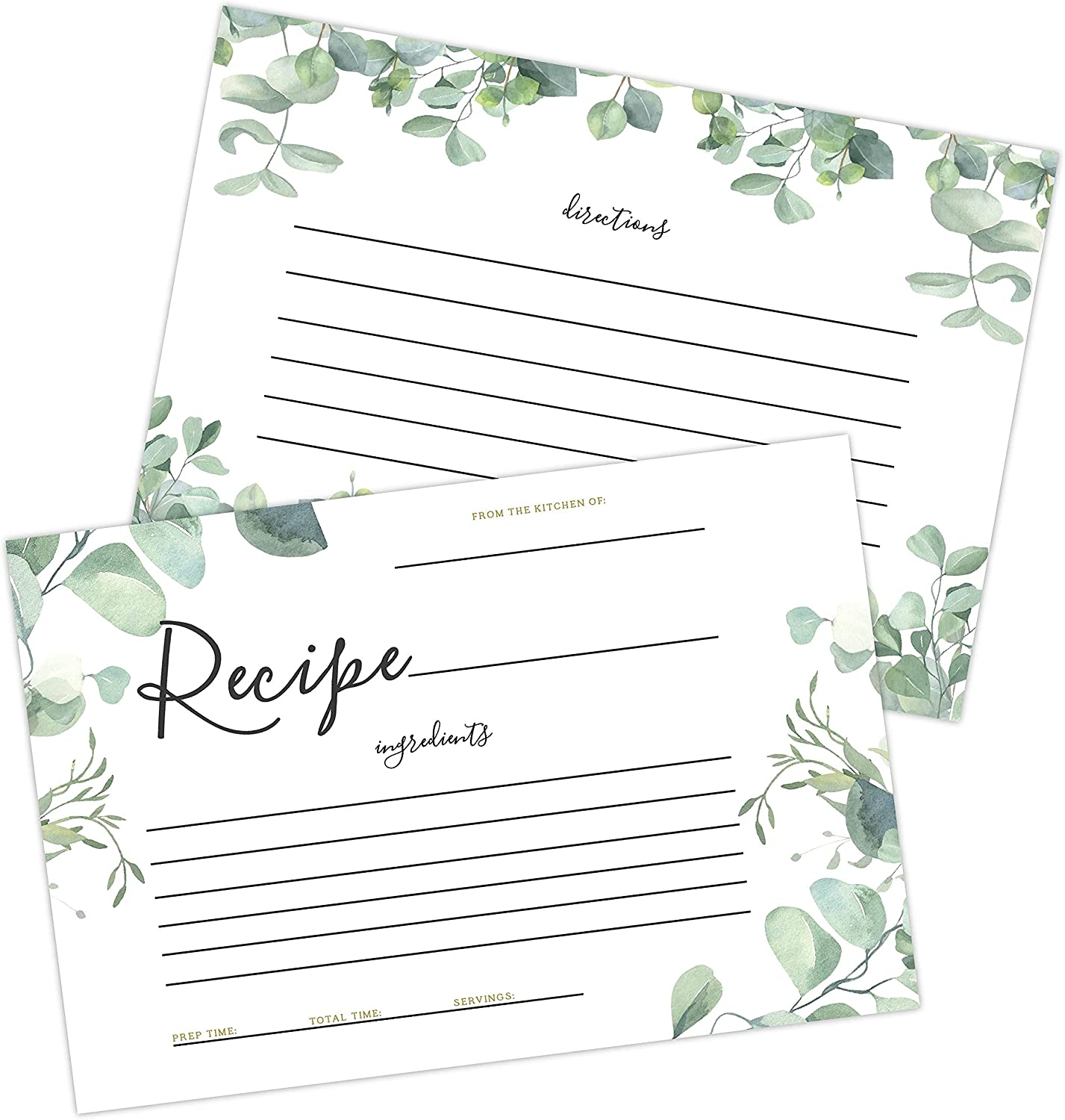 discount 50 Eucalyptus Double Sided Recipe Wedding All items free shipping Re Greenery for Cards