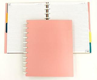 Talia Discbound Notebook, Salmon Cover, Letter