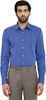 Park Avenue Dark Blue Cotton Silm Fit Shirt