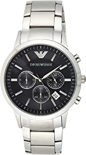 Emporio Armani Gents Wrist Watch, Silver, 43 mm, AR2434