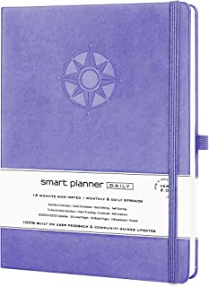 $34 » Smart Planner Daily 2021 - Achieve Goals & Increase Productivity, Time Management & Happiness - Daily Weekly Monthly Plann...