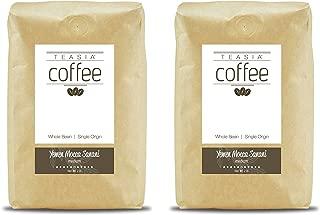 Teasia Coffee, Yemen Mocca Sanani, 2-Pack, Single Origin, Medium Roast, Whole Bean, 2-Pound Bag