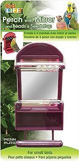 Penn Plax PP90274 Bird Life Perch & Bead Mirror & Seed Cup