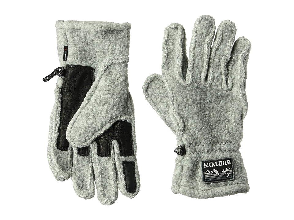 Burton Stovepipe Fleece Gloves (Gray Heather) Snowboard Gloves