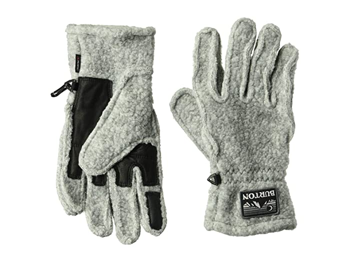 Burton  Stovepipe Fleece Gloves (Gray Heather) Snowboard Gloves