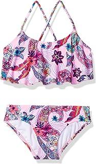 Kanu Surf girls Melody Paisley Flounce Bikini Beach Sport 2-Piece Swimsuit Bikini Set