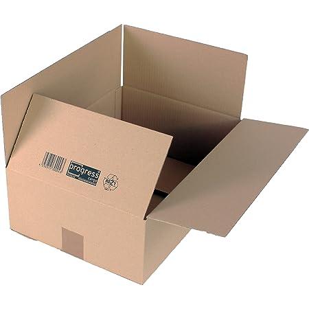 Scatola di Cartone Kraft per spedizione Postale Scatola di Cartone autoassemblante per spedizione o stoccaggio 20 unit/à KARTOX 13 x 15 x 4