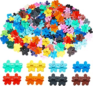 WillingTee 200 Pieces Baby Girl Mini Hair Claw Clips Flower Hair Bangs Pin Hair Clips Hair Accessories for Baby Girls Infa...