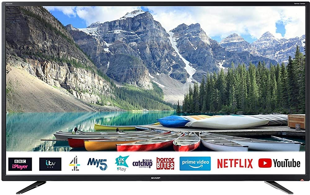 Sharp aquos smart tv 4k ultra hd, hdr slim, wi-fi 4T-C40BJ2EF2NB