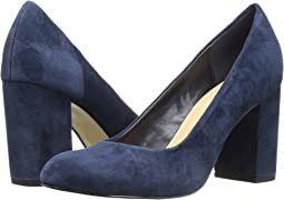 Navy Kid Suede Leather