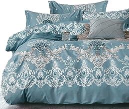 Essina Cotton Queen Quilt Cover Duvet Cover Doona Cover Set 3pc Valencia Collection 620 Thread Count, Pillow Sham, Sorrento