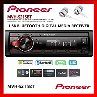 Pioneer In-Dash Built-In Bluetooth, Media Player Front USB Auxiliary, MP3, Pandora, AM/FM..