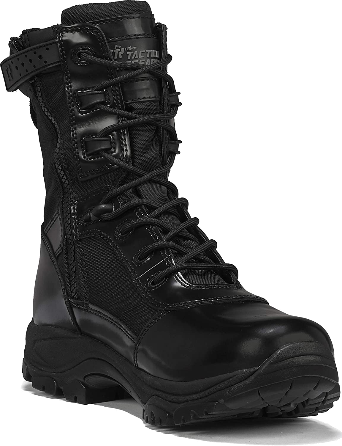 TACTICAL RESEARCH TR Men's low-pricing Class-A low-pricing Black WP TR908Z High-Shine 8