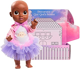 Qai Qai Doll by Serena Williams, Doll for Baby Girls with Coloring House Box 14.5, Includes Removable Outfit with Tutu and Onesie, Stands Alone, Baby Doll for Ages 3 and Up