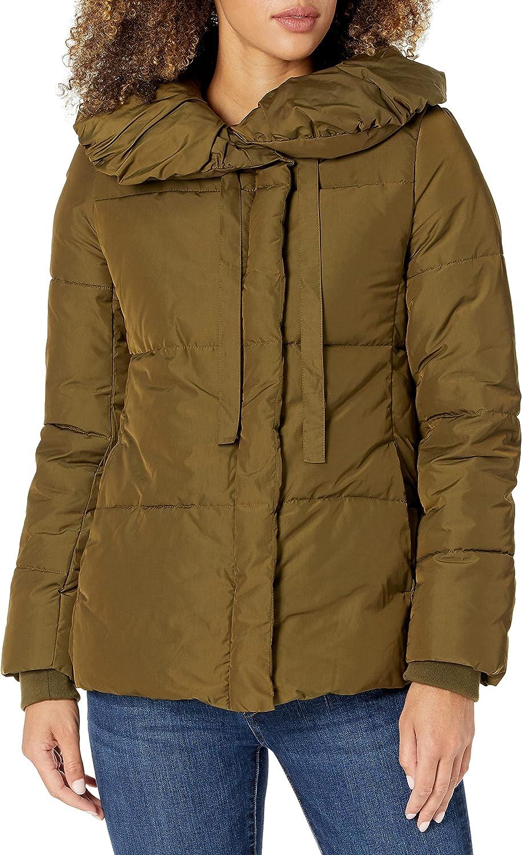Lark Ro Women's Short Omaha Mall Shawl Collar 2021 spring and summer new Jacket Puffer Pillow