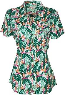 True Religion Women's Tropical Button Down Shirt