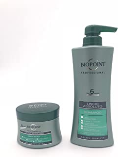 BIOPOINT KIT CAPELLI LISCIO ASSOLUTO SHAMPOO 400ML + MASCHERA 250ML   LINEA PROFESSIONAL SALON QUALITY